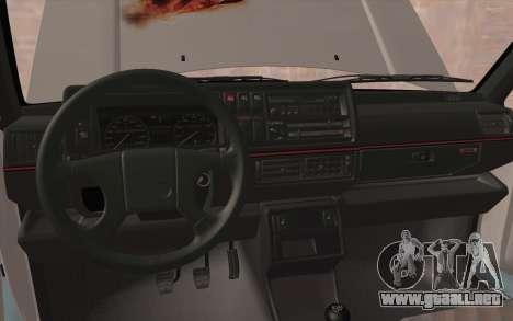 Volkswagen Golf 2 para visión interna GTA San Andreas