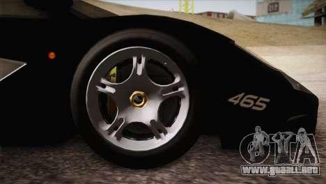McLaren F1 Police Edition para la visión correcta GTA San Andreas