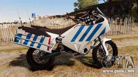 El portugués motocicleta de la policía [ELS] para GTA 4 left