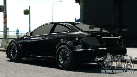 Mercedes-Benz C63 AMG Black Series 2012 para GTA 4 left