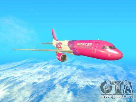 Airbus A320-200 WizzAir para la visión correcta GTA San Andreas