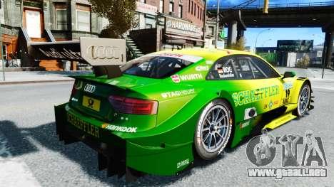 Audi RS5 DTM para GTA 4 Vista posterior izquierda
