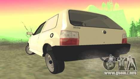 Fiat Uno Fire Cargo para GTA San Andreas vista posterior izquierda