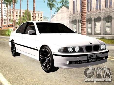 BMW 530d E39 para visión interna GTA San Andreas