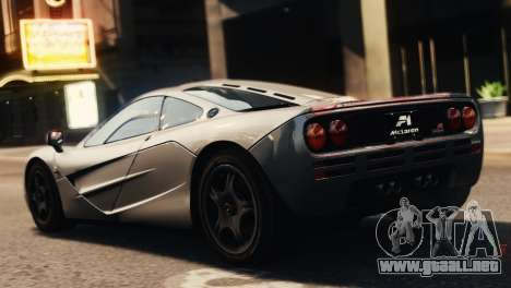 McLaren F1 XP5 para GTA 4 left