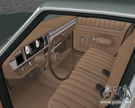 AMC Matador 1972 para visión interna GTA San Andreas