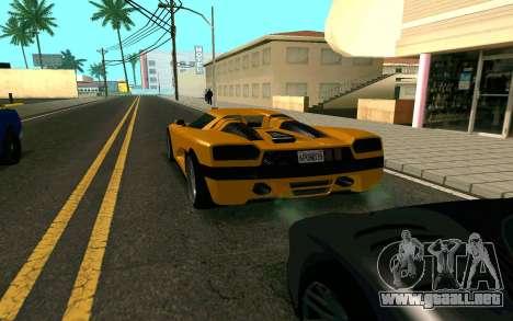 GTA V Entity XF para GTA San Andreas vista posterior izquierda
