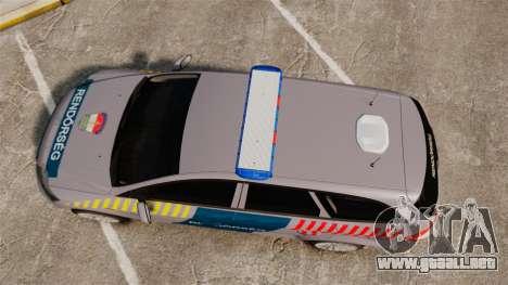 Ford Mondeo Hungarian Police [ELS] para GTA 4 visión correcta