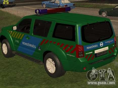 Nissan Pathfinder Police para GTA San Andreas interior