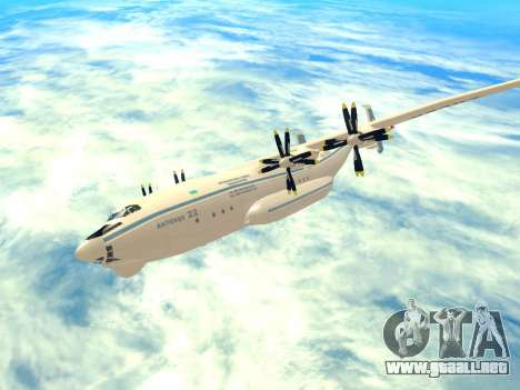 An-22 Antei para GTA San Andreas vista hacia atrás