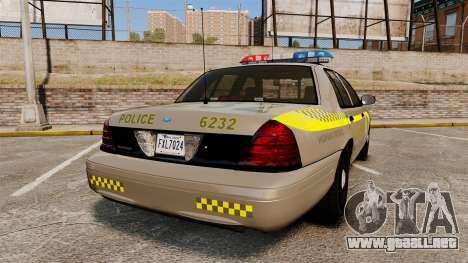 Ford Crown Victoria NLSP [ELS] para GTA 4 Vista posterior izquierda