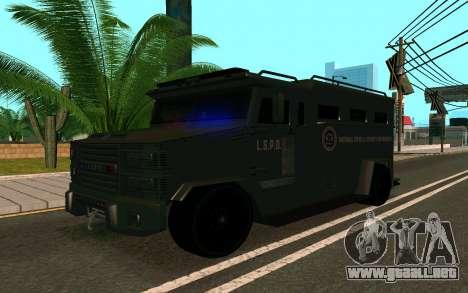 GTA V Police Riot para la visión correcta GTA San Andreas