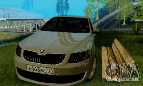 Skoda Octavia A7 para la visión correcta GTA San Andreas