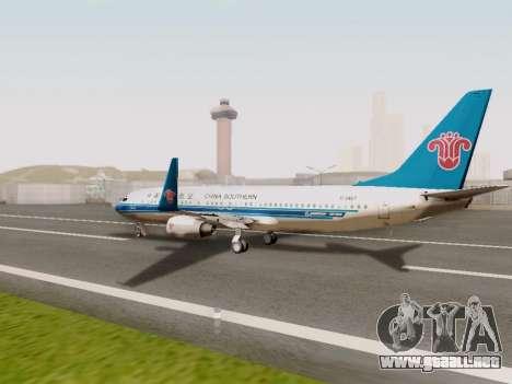 China Southern Airlines Boeing 737-800 para la visión correcta GTA San Andreas