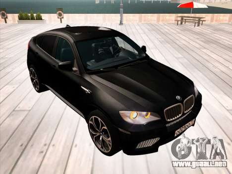 BMW X6M 2010 para las ruedas de GTA San Andreas