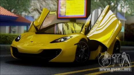 McLaren MP4-12C Spider para la visión correcta GTA San Andreas