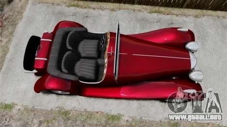 Jaguar SS100 para GTA 4 visión correcta