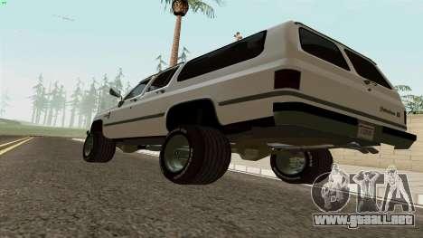 Chevrolet Suburban 2500 1986 para la visión correcta GTA San Andreas