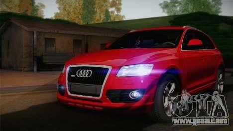 Audi Q5 2012 para GTA San Andreas vista hacia atrás