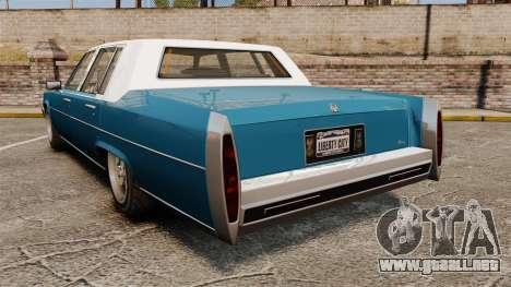 Emperor New Wheel para GTA 4 Vista posterior izquierda