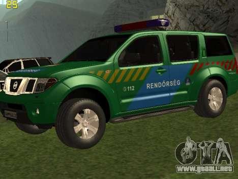 Nissan Pathfinder Police para la vista superior GTA San Andreas