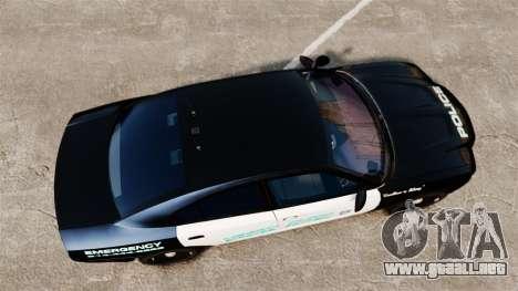 Dodge Charger 2011 Liberty Clinic Police [ELS] para GTA 4 visión correcta