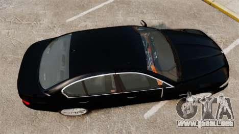 BMW M5 F10 2012 Japanese Unmarked Police [ELS] para GTA 4 visión correcta