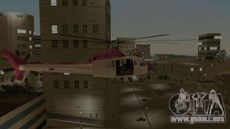 Bell HH-1D para GTA Vice City vista posterior