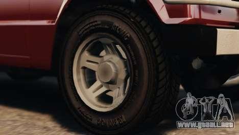 Mitsubishi Pajero I WAGON para GTA 4 visión correcta