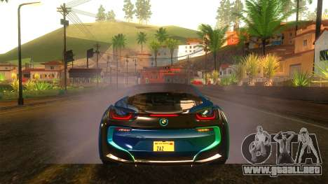 BMW I8 2013 para vista lateral GTA San Andreas