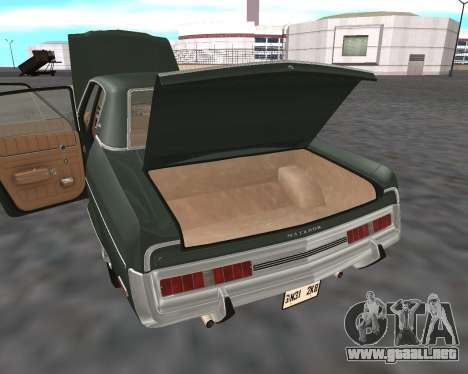 AMC Matador 1972 para vista inferior GTA San Andreas