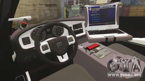 Dodge Charger 2013 LCSO [ELS] para GTA 4 vista hacia atrás