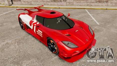 Koenigsegg One:1 para GTA 4 vista superior