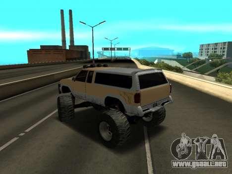 Nuevo Monstruo para GTA San Andreas vista posterior izquierda