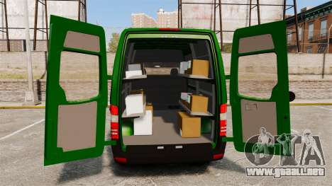 Mercedes-Benz Sprinter 2500 2011 Hungarian Post para GTA 4 vista superior