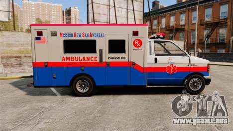 Brute MRSA Paramedic para GTA 4 left