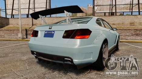 GTA V Benefactor Schwartzer para GTA 4 Vista posterior izquierda