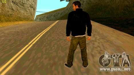 La nueva textura Claude para GTA San Andreas segunda pantalla