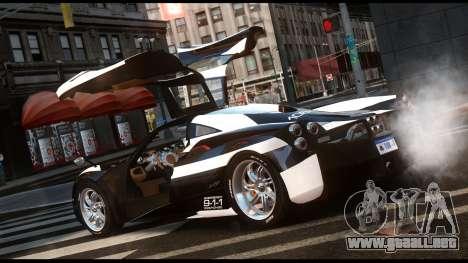 Pagani Huayra Police v1.1 para GTA 4 left