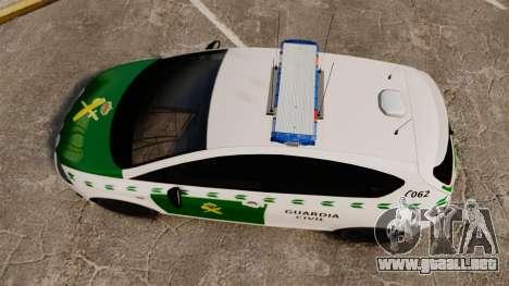 Seat Cupra Guardia Civil [ELS] para GTA 4 visión correcta