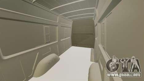 Mercedes-Benz Sprinter 2011 WWE Ultimate Warrior para GTA 4 vista interior
