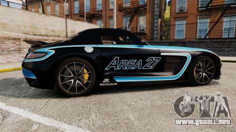 Mercedes-Benz SLS 2014 AMG Black Series Area 27 para GTA 4 left
