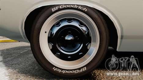 Dodge Challenger 1971 Vanishing Point para GTA 4 vista hacia atrás