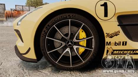 Mercedes-Benz SLS 2014 AMG Driving Academy v2.0 para GTA 4 vista hacia atrás