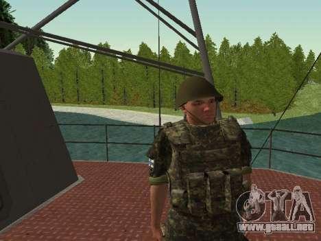 El Cuerpo de infantería de marina de las fuerzas para GTA San Andreas novena de pantalla