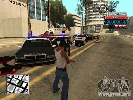 El nuevo C-HUD para GTA San Andreas quinta pantalla