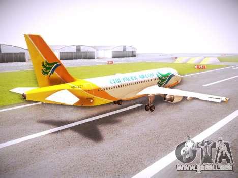 Airbus A320 Cebu Pacific Air para la visión correcta GTA San Andreas
