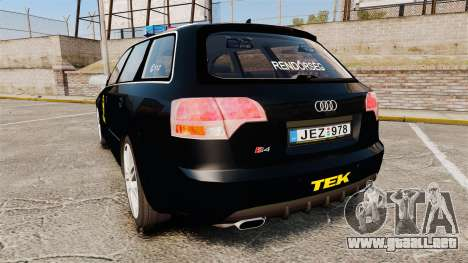 Audi S4 Avant TEK [ELS] para GTA 4 Vista posterior izquierda