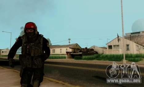 Kopassus Skin 1 para GTA San Andreas sucesivamente de pantalla