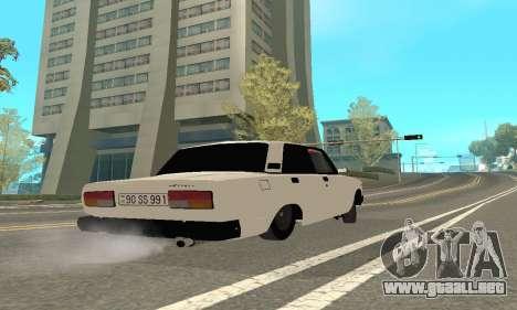 VAZ 2107 Avtosh para GTA San Andreas vista hacia atrás